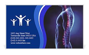 Human Spinal Column Business Card Template