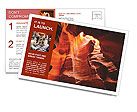 Cave In Mountain Postcard Template