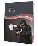 Man In Gus Mask Presentation Folder