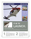 Rescue Helicopter Flyer Template