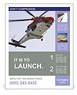 Rescue Helicopter Poster Template