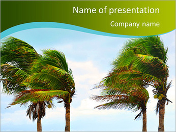 Strong Wind PowerPoint Template