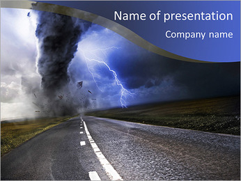 Dangerous Tornado PowerPoint Template