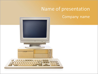 Old Computer PowerPoint Template