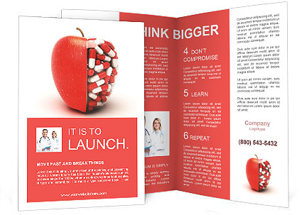 Pills in apple brochure template design id 0000007025 for Apple brochure templates