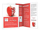 Pills In Apple Brochure Templates