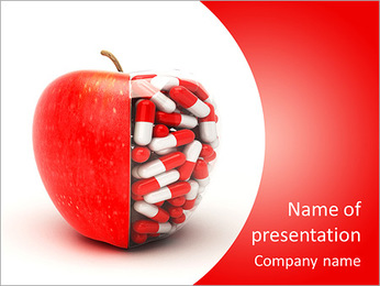 Pills In Apple PowerPoint Template