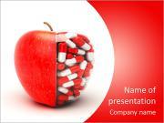 Pilules dans la pomme Modèles des présentations  PowerPoint
