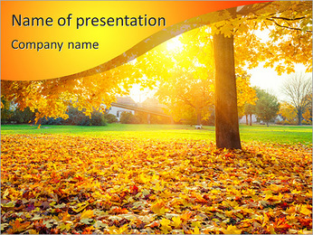 Autumn Park PowerPoint Template