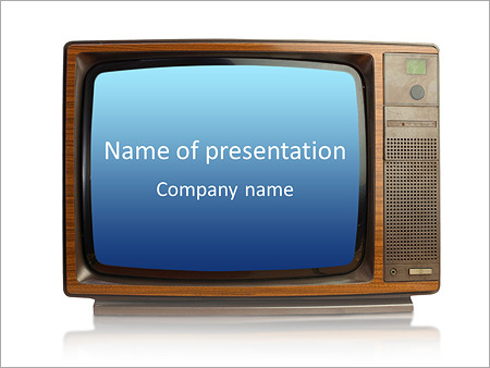 old fashioned tv powerpoint template backgrounds google slides