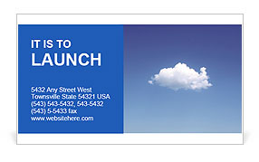White Cloud Business Card Template