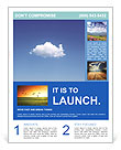 White Cloud Flyer Template