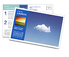 White Cloud Postcard Templates