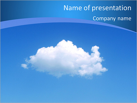 White Cloud Powerpoint Template Backgrounds Id 0000007031