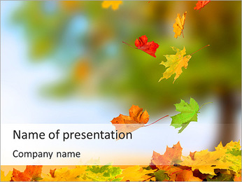 Leaves Fall PowerPoint Template