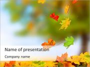 Leaves Fall PowerPoint Templates