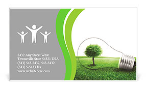 Eco Lamp Business Card Template