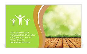 Organic Farming Business Card Template