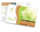 Organic Farming Postcard Template