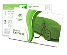 Ecological Car Postcard Template