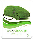 Ecological Car Poster Template
