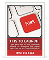 Risk Red Button Ad Template