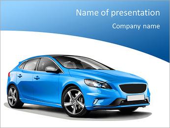 Bleu Auto Modèles des présentations  PowerPoint
