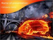 Auto In Fire Modèles des présentations  PowerPoint