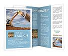 Excavator Brochure Templates