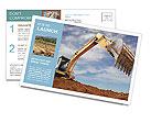 Excavator Postcard Template