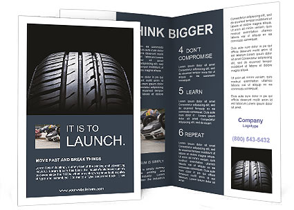 Car Tire Brochure Template Design Id 0000007057 Smiletemplates