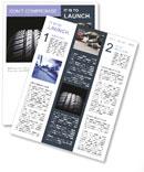 Car Tire Newsletter Template