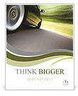 Green Car Poster Template