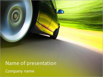Voiture verte Modèles des présentations  PowerPoint