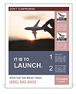 Fly By Plane Poster Template