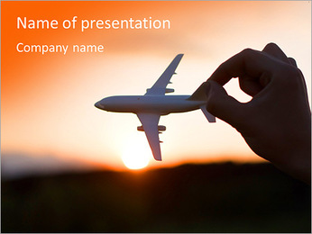 Fly By Plane PowerPoint Template
