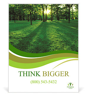forest in spring poster template design id 0000007068