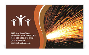 Welder Business Card Template