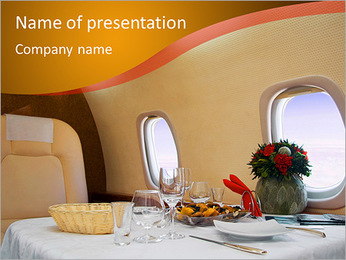 Business Class Travel PowerPoint Template