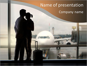 Airport Farewell PowerPoint Template