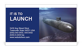 Submarine Business Card Template
