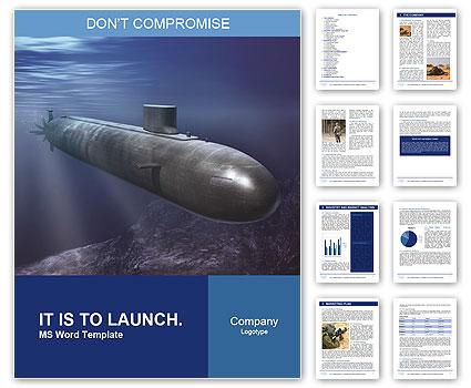 submarine word template design id 0000007077 smiletemplates com