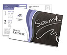 Search Information Postcard Template
