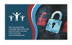 Security In Internet Business Card Template