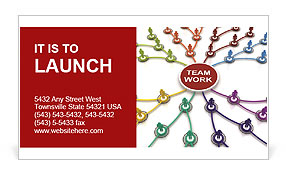 Team Work Structure Business Card Template