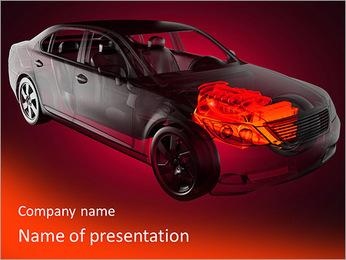 Moteur de voiture Modèles des présentations  PowerPoint - Diapositives 1