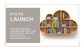 Book Shelf Business Card Template