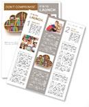 Book Shelf Newsletter Template