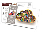 Book Shelf Postcard Template