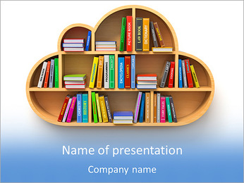 Book Shelf PowerPoint Template
